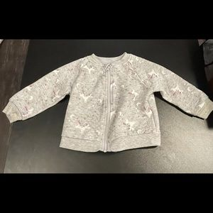 Gray 18 month unicorn jacket.